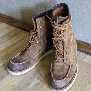 Suede FRYE Lace Up Boots
